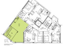 Скица етаж 1, бистро. Жилищна сграда, кв. Кючук Париж