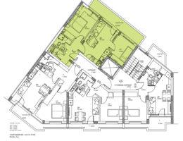 Скица на етаж 6, ап. 16 в жилищна сграда на бул. Никола Вапцаров 9, гр. Пловдив