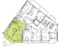 Скица на етаж 6, ап. 17. Жилищна сграда кв. Кючук Париж