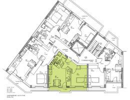 Скица на етаж 6, ап. 18. Жилищна сграда - Пловдив, кв. Кючук Париж