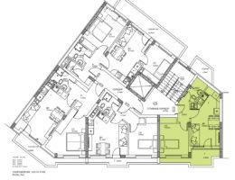 Скица на етаж 6, ап. 19. Жилищна сграда в Пловдив, кв. Кючик Париж