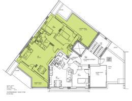 Скица на етаж 6, ап. 20. Жилищна сграда в кв. Кючук Париж, бул. Никола Вапцаров 9