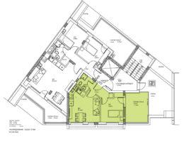 Скица на етаж 6, ап. 21. Жилищна сграда - кв. Кючук Париж