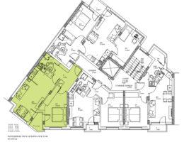 Скица на апартамент 5, 9 и 13 на етаж 3, 4 и 5. Жилищна сграда, кв. Кючук Париж