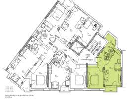 Разпределение на етаж 3, 4 и 5. Жилищна сграда - кв. Кючук Париж, Пловдив