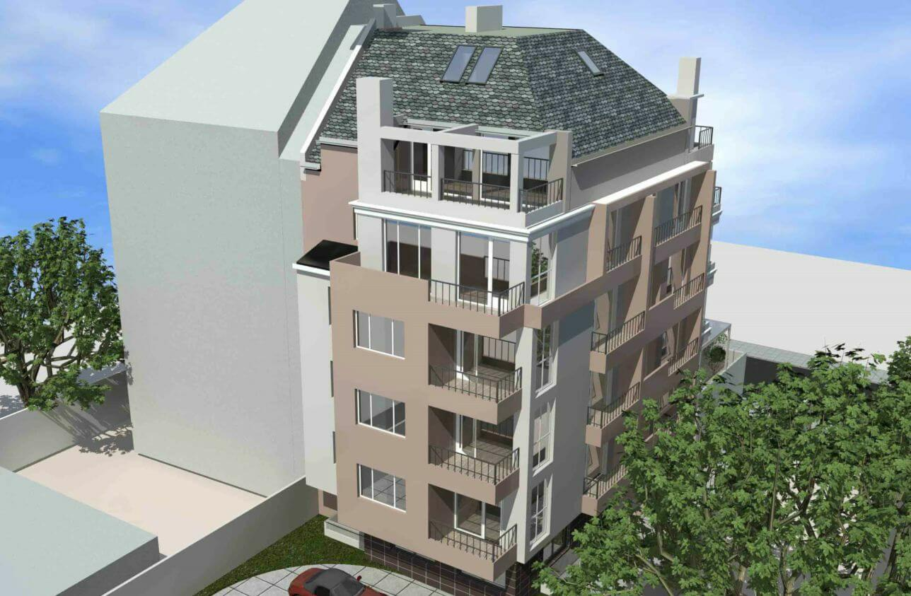 Визуализация на жилищна сграда кв. Хр. Смирненски, ул. Силистра 19